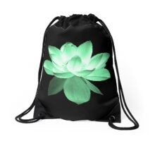 7 DAY'S OF SUMMER-YOGA ZEN RANGE- EMERALD GREEN LOTUS Drawstring Bag