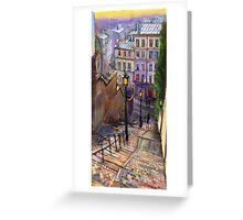 Paris Montmartre Greeting Card