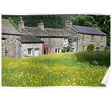 Arncliffe in Littondale Summer Flowers Poster