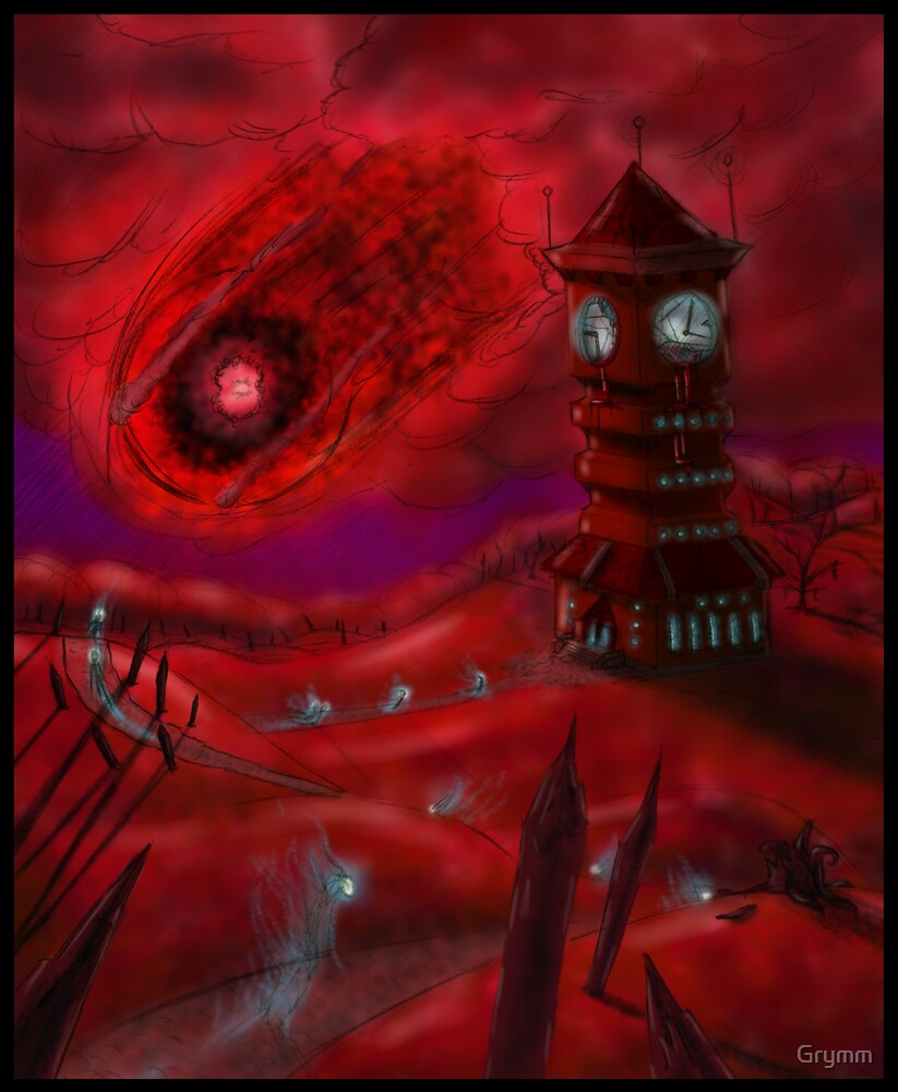 Pilgrimage of Wayfaring Souls Beneath the Cosmic Eye by Grymm