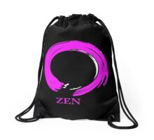 7 DAY'S OF SUMMER-YOGA ZEN RANGE- PINK ENSO ZEN Drawstring Bag