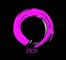 7 DAY'S OF SUMMER-YOGA ZEN RANGE- PINK ENSO ZEN by 7 days of Summer