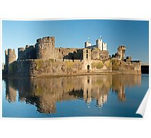 Caerphilly Castle South Wales Poster