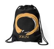 7 DAY'S OF SUMMER-YOGA ZEN RANGE- ORANGE ENSO Drawstring Bag