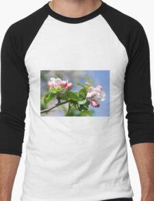 Apple Tree Blossom Men's Baseball ¾ T-Shirt