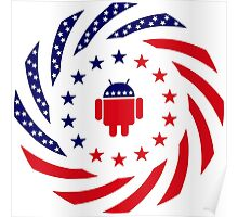 Android Murican Patriot Flag Series Poster