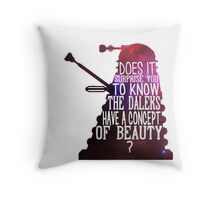 A Concept of Beauty... Throw Pillow
