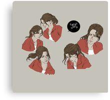 Red survivor- Zoey Canvas Print