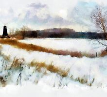 Windmill In The Snow'... by Valerie Anne Kelly