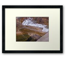 The River Runs Through Here Framed Print