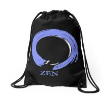 7 DAY'S OF SUMMER-YOGA ZEN RANGE- BLUE ENSO Drawstring Bag