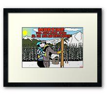 "Morzine ""all for  love and winter sports "" Framed Print"
