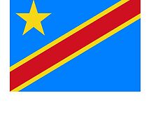 CONGO, African Flag, Congolese Flag, African, Democratic Republic of the Congo by TOM HILL - Designer