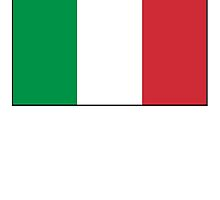 ITALY, ITALIAN, Italian Flag, Flag of Italy, 'Bandiera d'Italia', Pure & simple by TOM HILL - Designer