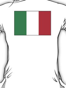 ITALY, ITALIAN, Italian Flag, Flag of Italy, 'Bandiera d'Italia', Pure & simple T-Shirt
