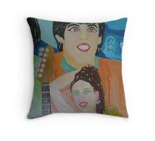 Lara Bingle & Sir Paul Mcartney - The Beatles - Sunilism Throw Pillow