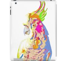 7 DAYS OF SUMMER- COCKATOO ART IN BLUE AND PEACH iPad Case/Skin