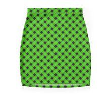 Woven in Green Mini Skirt