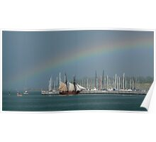 Rainbow over Sail Poster