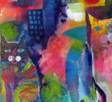 Abstract Cats Acrylics Sticker