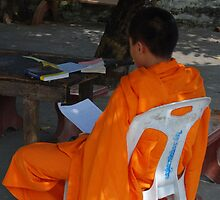 Monks in Cambodia by mingle