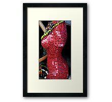 Figure in Red Framed Print