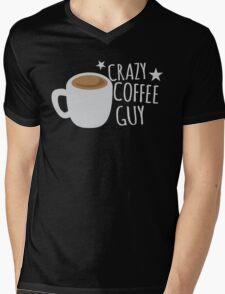 Crazy Coffee GUY Mens V-Neck T-Shirt