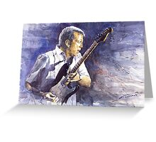 Jazz Eric Clapton Greeting Card