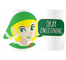 If LINK was a girl (OKAY! I'm listening!) Poster