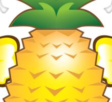 Tropical pineapple with two hibiscus Hawaiian flowers Sticker
