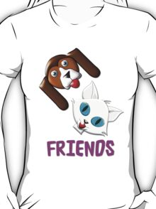 Hound Dog and Pussy Cat Friends T-shirt, etc. design T-Shirt