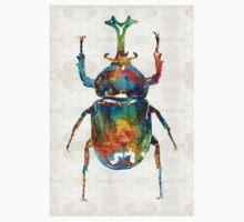Colorful Beetle Art - Scarab Beauty - By Sharon Cummings Kids Tee