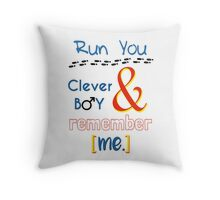 Doctor Who Clara and Eleven Throw Pillow