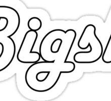 Bigsby White Sticker
