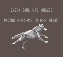 Geometric Wolf #1 by nessaaw