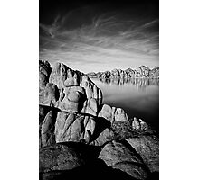 Watson Lake in Black and White Photographic Print