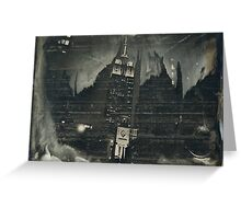 Empire At Night (Wet Plate Collodion Tintype) Greeting Card