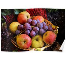 Apples and Grapes Poster