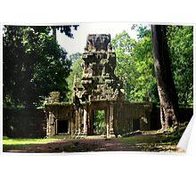 Ancient Khmer Gate - Angkor, Cambodia. Poster