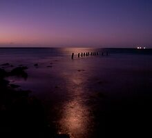 Moonlight Reflections - Sims Cove, Yorke Peninsula, South Australia by Michelle Singleton