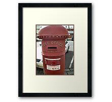 Letterbox in older style Framed Print