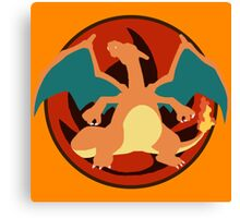Charizard Emblem Canvas Print