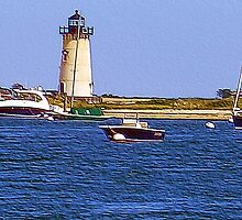 Edgartown Harbor Lighthouse by Monika Fuchs
