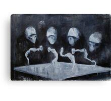 Nocturn 0: Sentences Wriggle Canvas Print