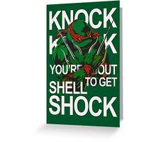 TMNT - Raphael Knock Knock Greeting Card
