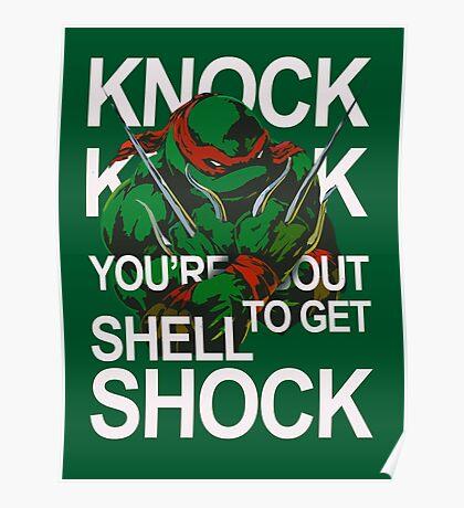 TMNT - Raphael Knock Knock Poster
