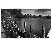 Lakeside Monochrome - Willen, Milton Keynes Poster