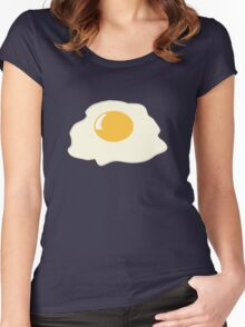 FRIED EGG Women's Fitted Scoop T-Shirt