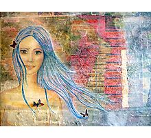 butterflies in my hair Photographic Print
