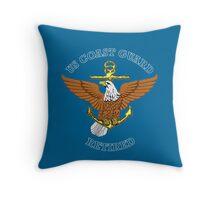 US Coast Guard Retired Throw Pillow